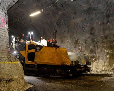 Volvo paver adapts to life at Kiruna