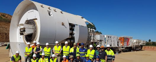 In October, the MTB successfully completed its commissioning, tunnelling through 10m of tuff at the quarry, while being visited by a host of potential international clients