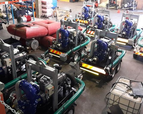 Eight Sykes dewatering pumps for coal operation