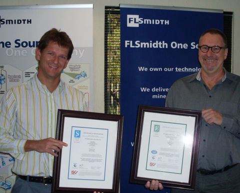 FLSmidth South Africa achieves ISO, OHSAS accreditation