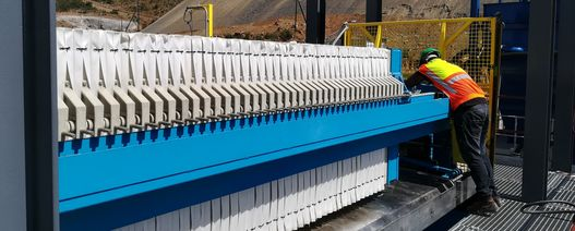 Multotec filter press used at chrome and coal operations