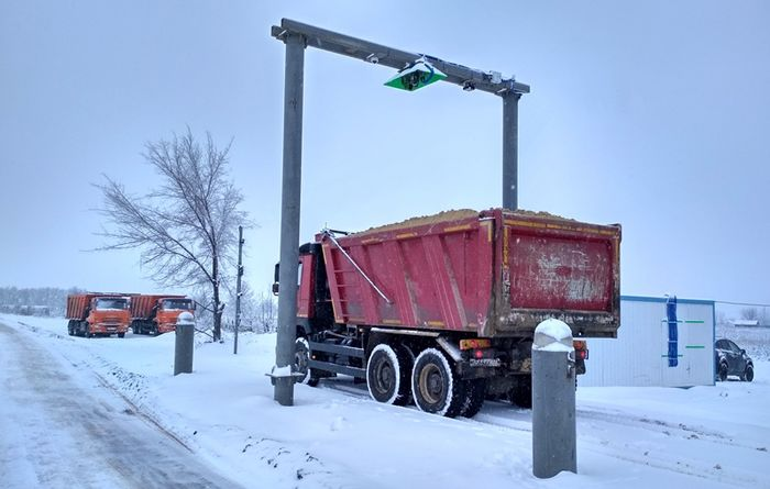 3D truck volume measurement systems by LASE for Russian construction company TSM