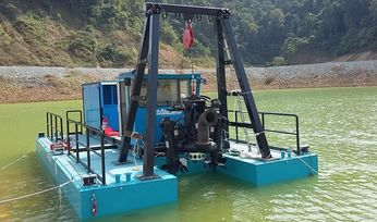 Dragflow cable dredge for Indonesia mine
