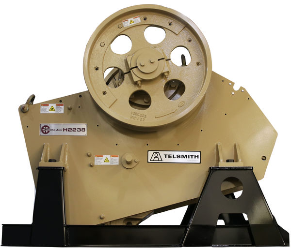 elsmith will display its ydraaw 2238 jaw crusher model