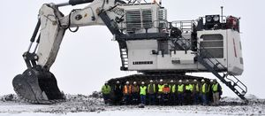 Tier 4F Liebherr excavator digs in