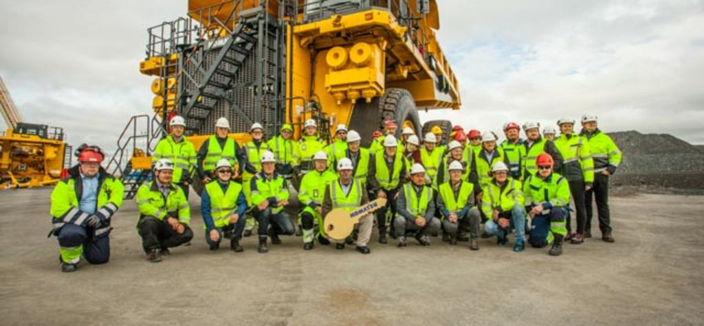 Kevitsa receives Komatsu electric trucks