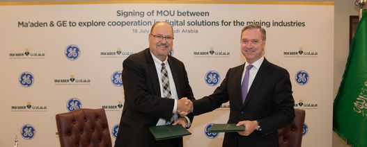 Ma'aden and GE partner to deploy digital solutions