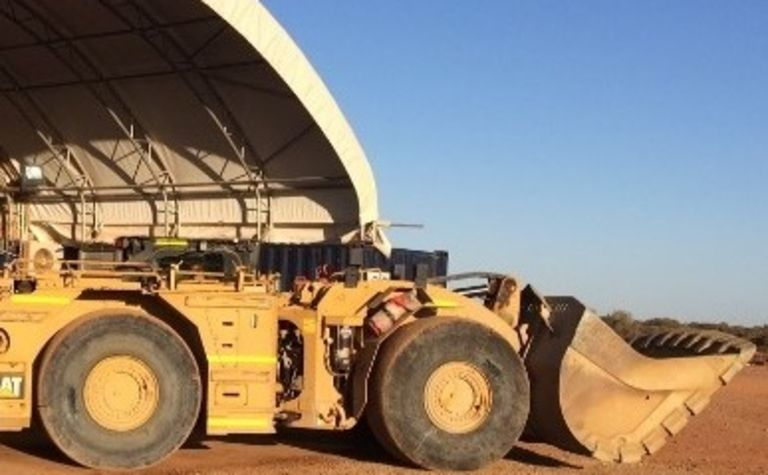 Pybar tests Cat loader underground