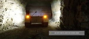 Unmanned vehicle examines Estonian underground mine