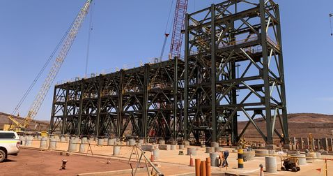 BHP, Fluor hit milestone in South Flank ore-handling plant construction