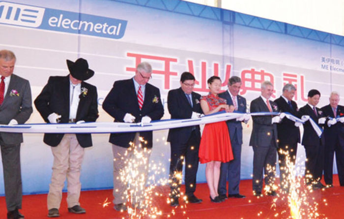 ME Elecmetal opens its latest plant in China