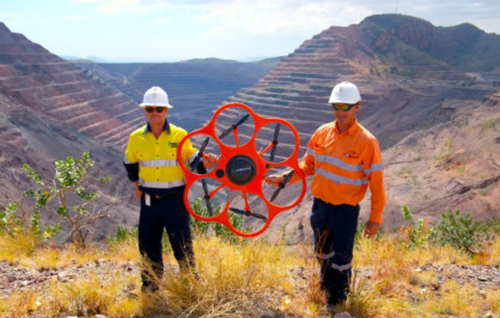 UAV surveys Argyle diamond mine