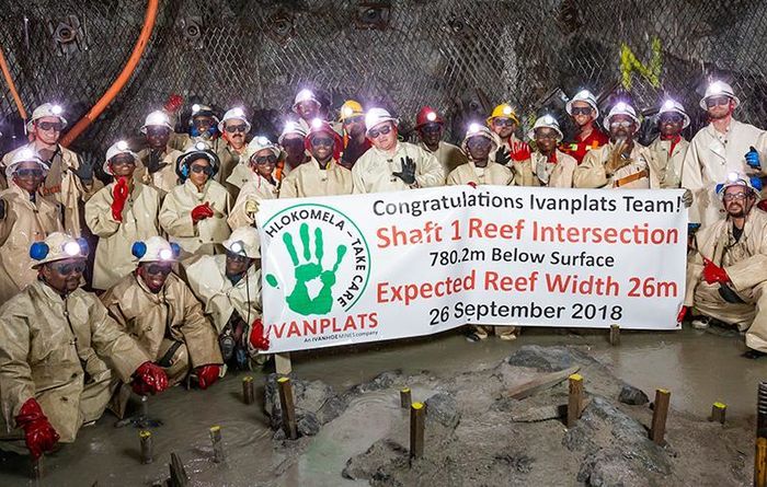 Shaft 1 at Ivanhoe's Platreef intersects Flatreef deposit