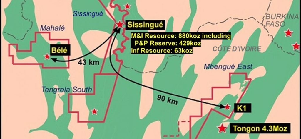 Sissingué mill sees first ore