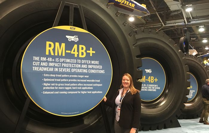 Goodyear unveils latest 63in OTR tyre