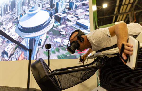 ome people were even brave enough to take flight as a bird over eattle in a virtual reality demo