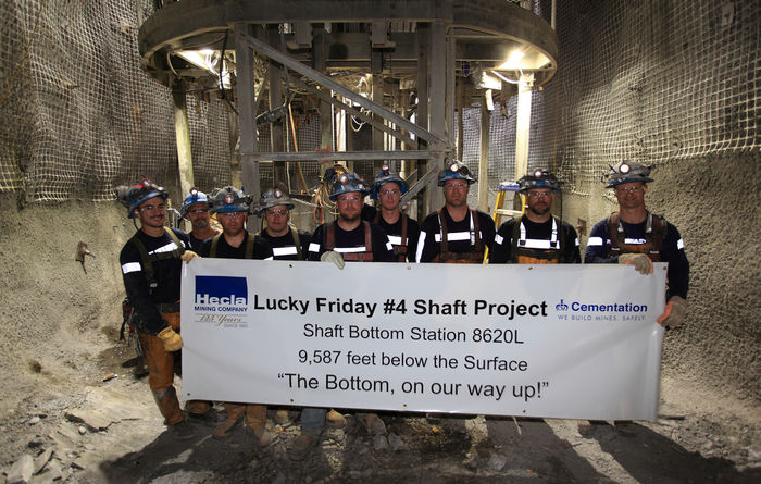 Deepest mine shaft in the US complete