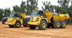 Komatsu launches two new articulated dump trucks