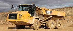 Cat refines articulated truck design