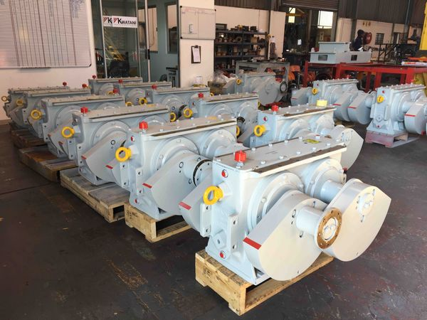 batch of watani manufactured gearboxes complete and awaiting dispatch