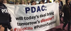 Activists storm PDAC during sustainability talk