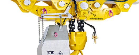 J D Neuhaus adds heavy duty air operated hoists