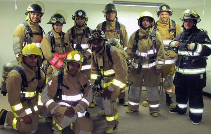 Firefighting training for Barrick ERT