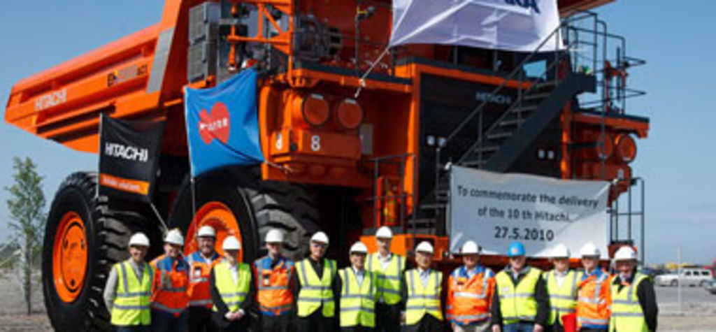 Talvivaara celebrates tenth Hitachi truck