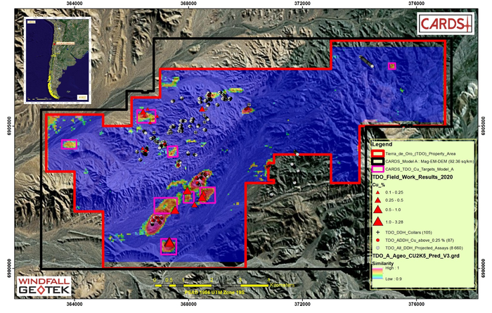 Windfall Geotek AI exploration success at Tierra De Oro