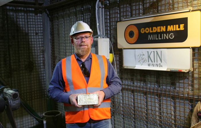 Kin produces first gold at Leonora
