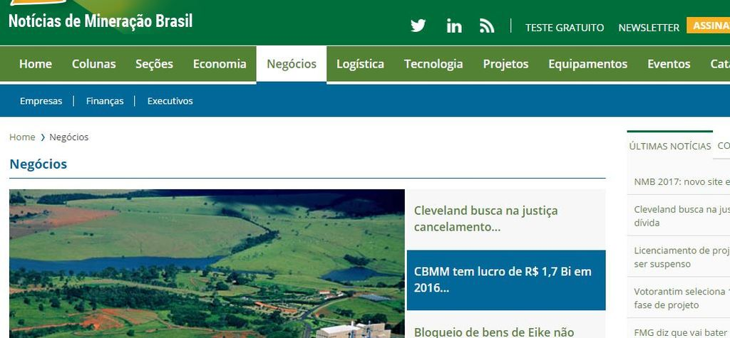 New hub for Brazilian mining intelligence