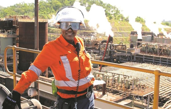 Rio Tinto employee Tess Lawn at the Yarwun refinery