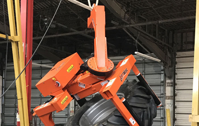 LiftWise introduces SideWinder tyre handler