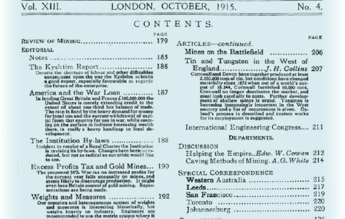 Flashback to... October 1915