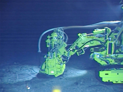 he crustexcavation testing machine on the seabed