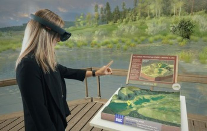 Virtual reality for mine reclamation