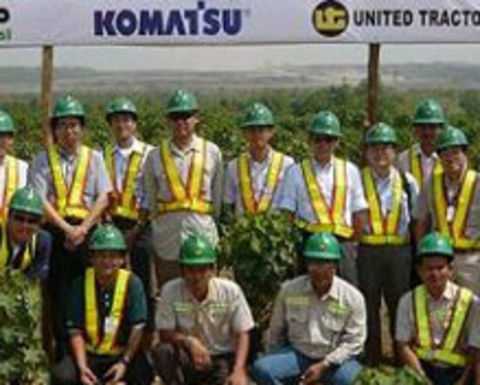Komatsu, Adaro and United Tractors go green