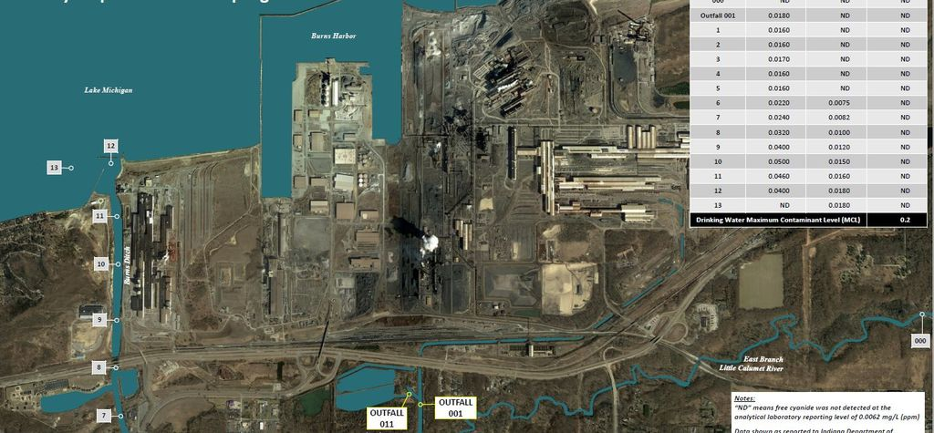 Zero to 'barely detectable' traces of ammonia, cyanide found after spill