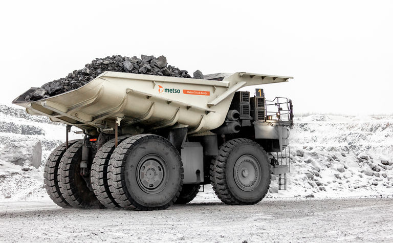 Metso reveals durable, light truck body at Bauma