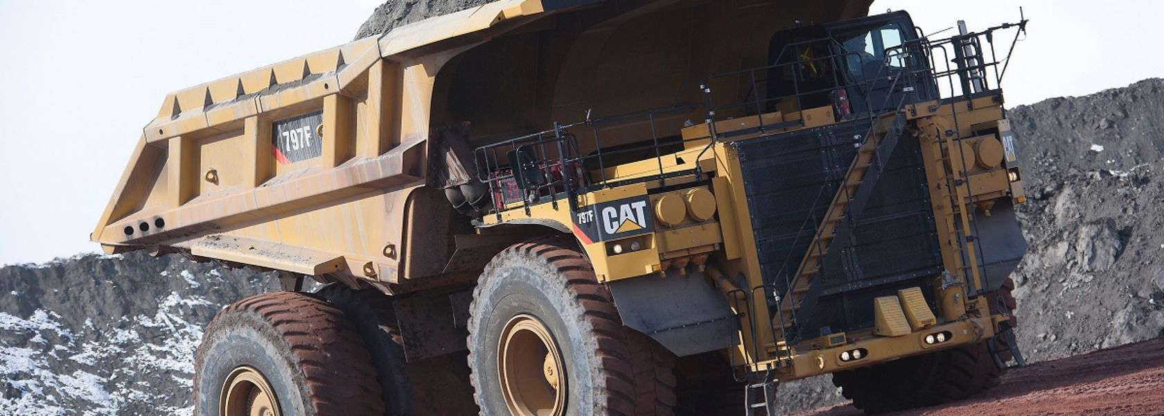 Cab-less haul truck approaching