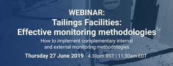 WEBINAR - Tailings Facilities: Effective monitoring methodologies