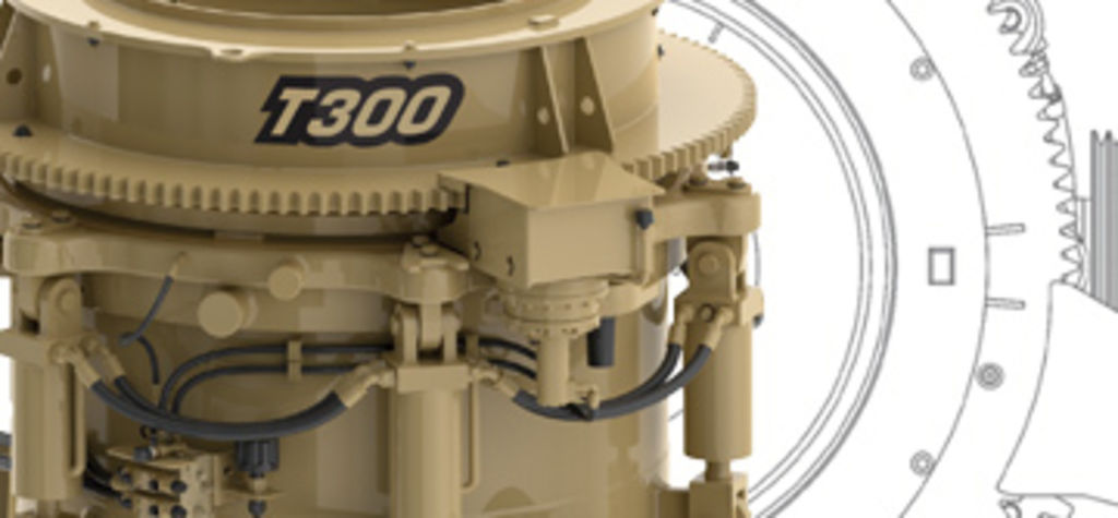 New Telsmith T300 cone crusher