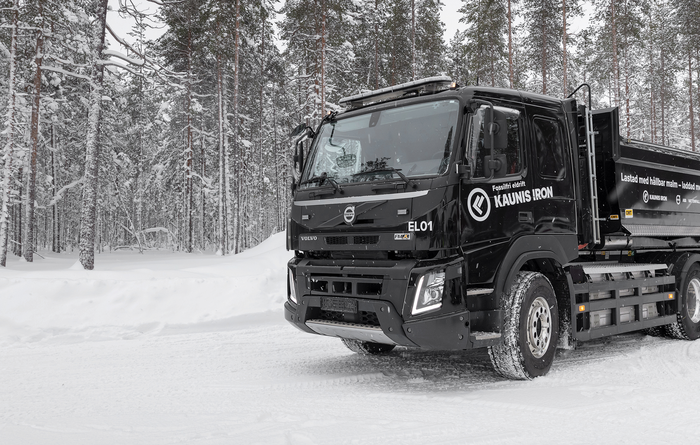 Volvo, Kaunis to trial Arctic electric ore truck