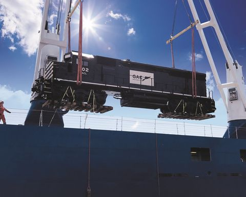 First locomotives arrive at EGA's Guinea project