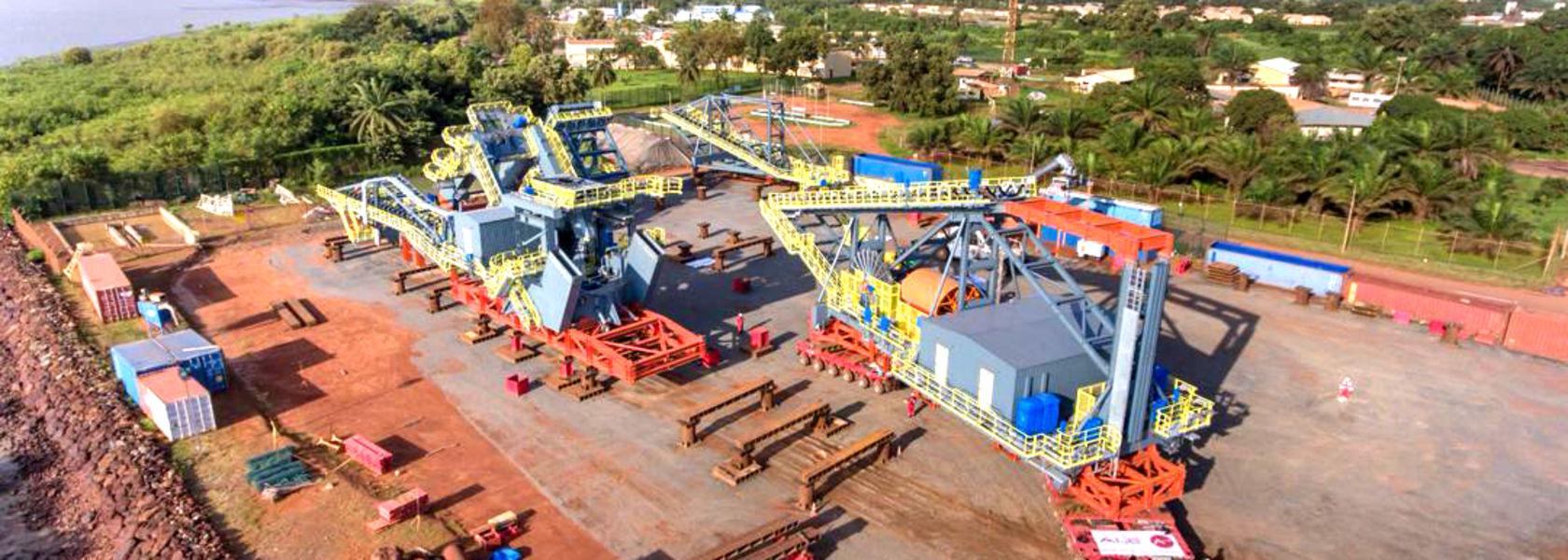 Stacker reclaimer arrives at EGA's Guinea project - Mining Magazine