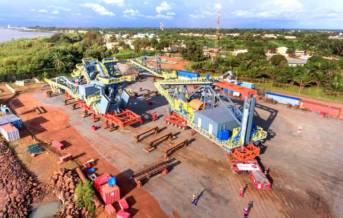 Stacker reclaimer arrives at EGA's Guinea project
