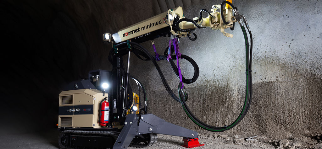 Normet introduces solution for concrete spraying in confined spaces