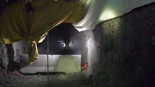 he afeight drones pilot assist automation simplifies the task flying through difficult underground obstacles even in difficult conditions his gives mines the ability to get accurate survey data and  video to inspect damaged or mothballed areas of the mine hoto afeight