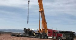 A majority of the circuit's components have arrived on-site, including the crusher, conveyors and radial stacker