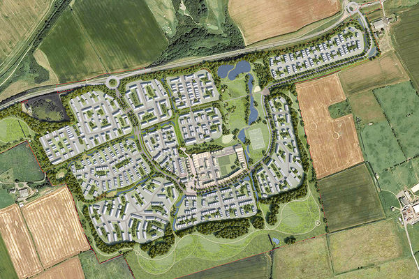 n artists impression of the eaham arden illage development